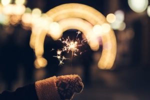 This is a picture of person holding sparkler